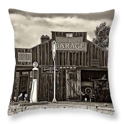 The Past Throw Pillow featuring the photograph A Simpler Time Sepia by Steve Harrington