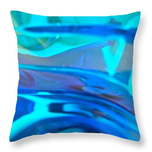 Blue Throw Pillow featuring the photograph Abstract 4388 by Stephanie Moore