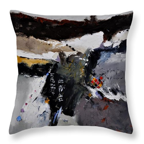 Abstract Throw Pillow featuring the painting Abstract 8831803 by Pol Ledent