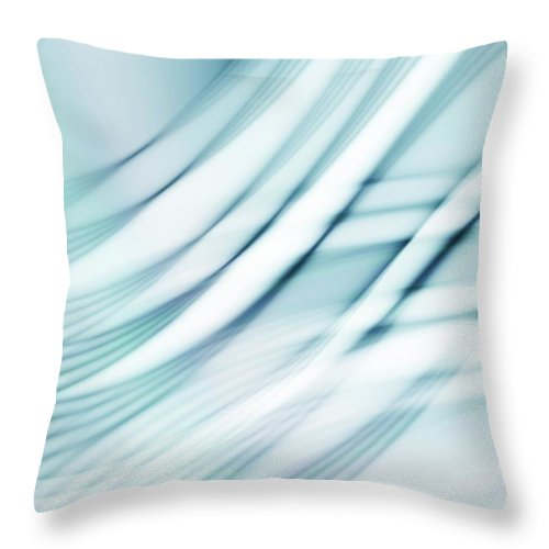 Grid Throw Pillow featuring the digital art Abstract Pattern, Artwork by Pasieka
