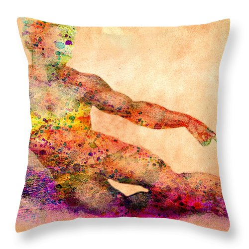 Michelangelo Throw Pillow featuring the photograph Adam by Mark Ashkenazi