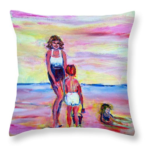Girl Throw Pillow featuring the photograph Afternoon Tide by Patricia Taylor