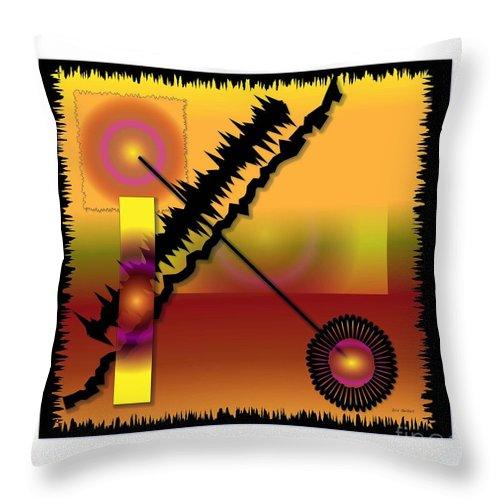 Abstract Throw Pillow featuring the digital art Aim by Iris Gelbart