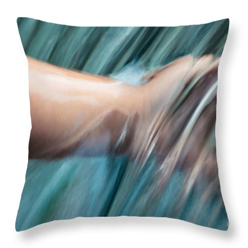 Aloha Throw Pillow featuring the photograph Akeakamai by Sharon Mau
