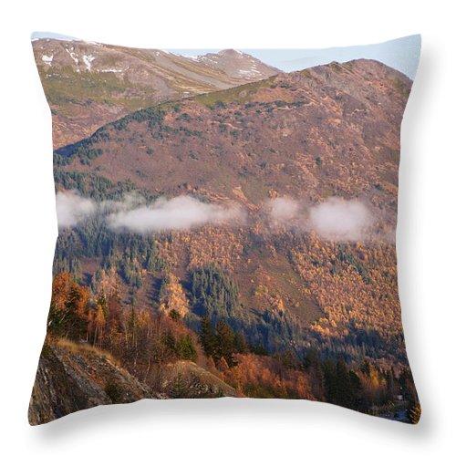 Alaska Throw Pillow featuring the photograph Alaskan Mountains by Richard Booth