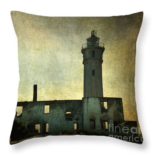 Alcatraz Island Throw Pillow featuring the photograph Alcatraz Island Lighthouse by RicardMN Photography