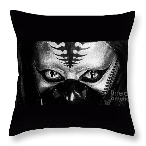 Alien Throw Pillow featuring the photograph Alien by Angelique Olin