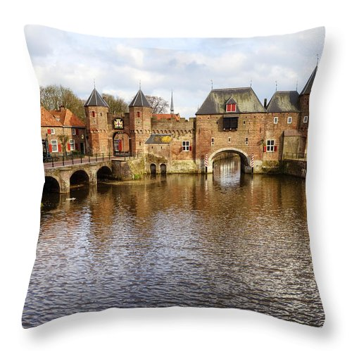 Koppelpoort Throw Pillow featuring the photograph Amersfoort by Joana Kruse