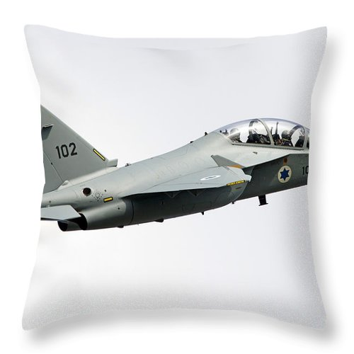 No People Throw Pillow featuring the photograph An Alenia Aermacchi M-346 Master by Luca Nicolotti