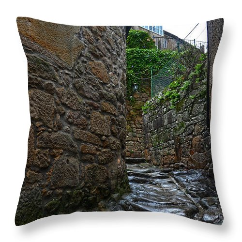 Ancient Throw Pillow featuring the photograph Ancient Street In Tui by RicardMN Photography