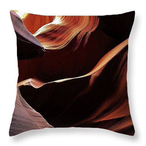 Antelope Throw Pillow featuring the photograph Antelope Canyon 8 by Ingrid Smith-Johnsen
