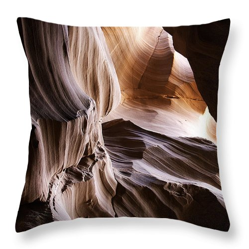 Upper Throw Pillow featuring the photograph Upper Antelope Canyon by Peter Lloyd