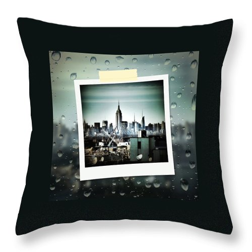 Skyline Throw Pillow featuring the photograph April In Nyc by Natasha Marco