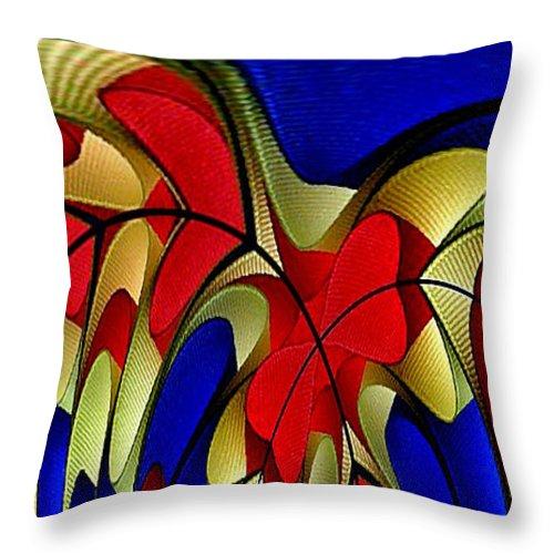 Digital Art Throw Pillow featuring the digital art Arches by Rafael Salazar