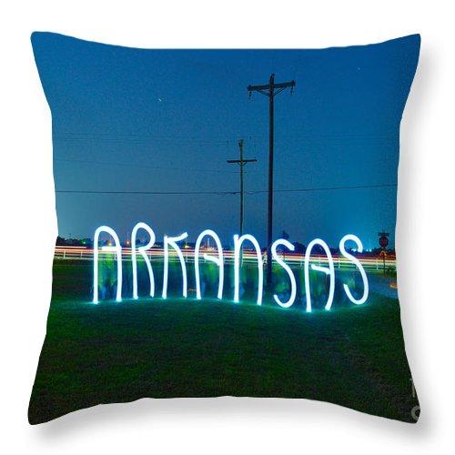 Arkansas Throw Pillow featuring the photograph Arkansas by Chris Look