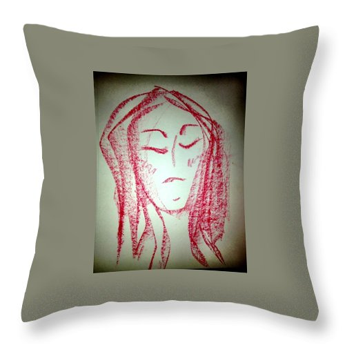 Woman Throw Pillow featuring the photograph Art Therapy 129 by Michele Monk