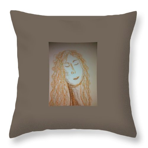 Woman Throw Pillow featuring the photograph Art Therapy 99 by Michele Monk
