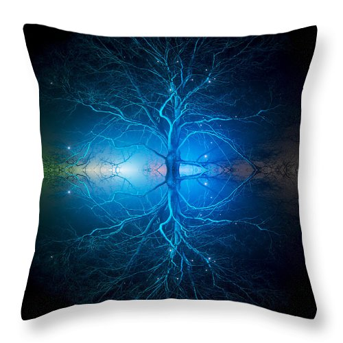 Oak Tree Throw Pillow featuring the photograph As Above So Below by Tim Gainey