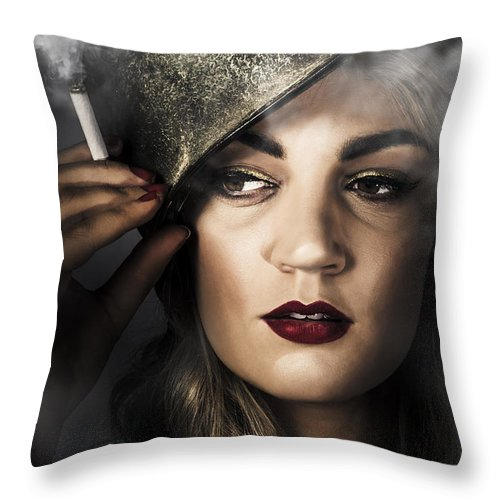 Attractive Pinup Woman In 1940 Military Style Throw Pillow For Sale By Jorgo Photography Wall Art Gallery