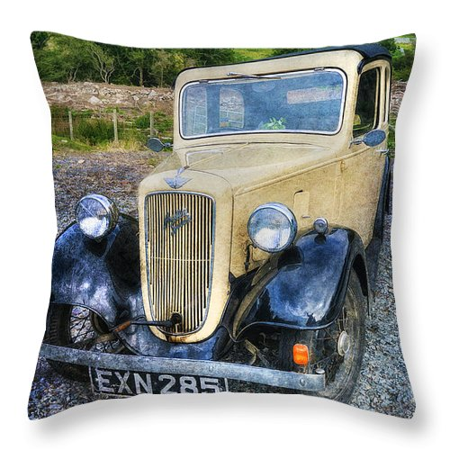 Austin Seven Throw Pillow featuring the photograph Austin 7 by Ian Mitchell
