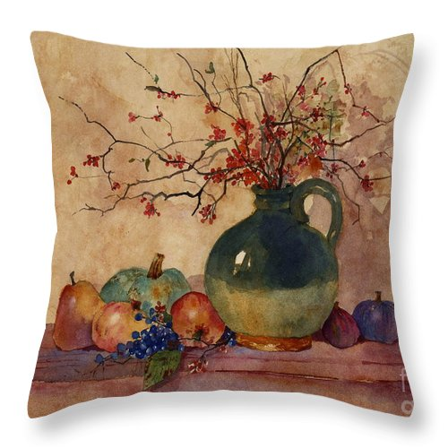Autumn Throw Pillow featuring the painting Autumn Colors by Sherri Crabtree