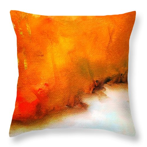 Paintings By Lyle Throw Pillow featuring the painting Autumn Leaves by Lord Frederick Lyle Morris - Disabled Veteran