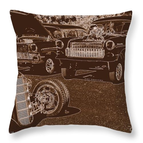 Acrylic Prints Throw Pillow featuring the photograph Back In The Day by Bobbee Rickard