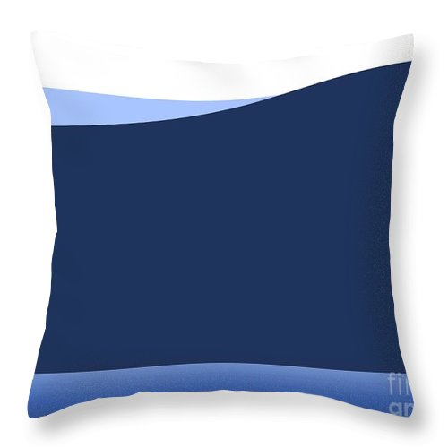 Website Throw Pillow featuring the digital art Background Wave by Henrik Lehnerer