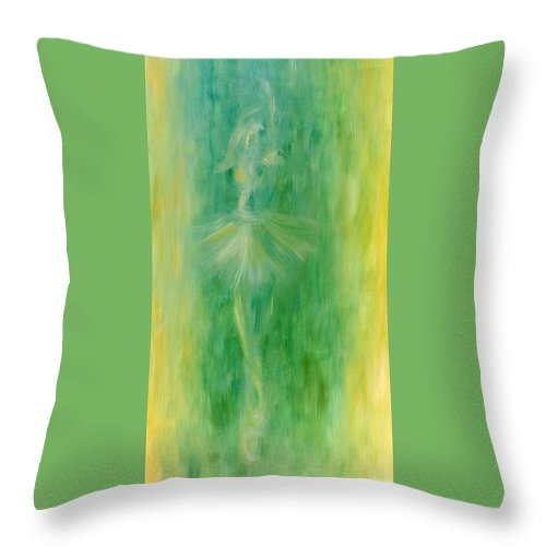 Figurative Throw Pillow featuring the painting Ballerina by Alexandra Vaczi