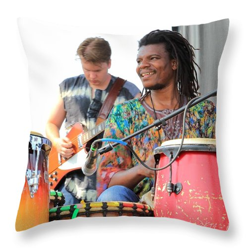 Baoku Rw2k14 Throw Pillow featuring the photograph Baoku Rw2k14 by PJQandFriends Photography