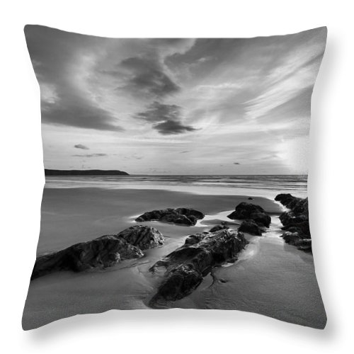 Beach Throw Pillow featuring the photograph Beach 38 by Ingrid Smith-Johnsen