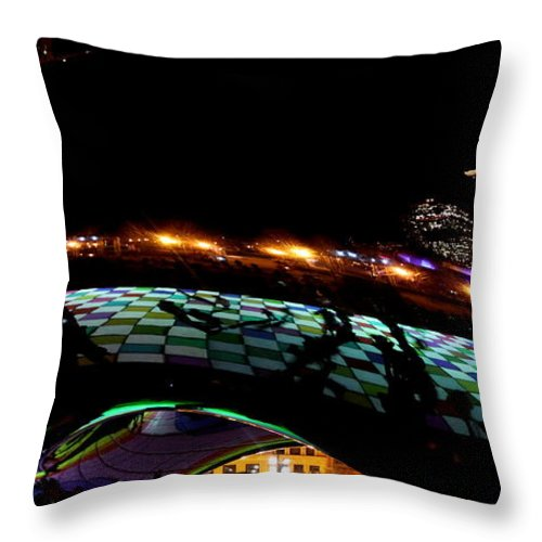 Luminous Field Throw Pillow featuring the photograph Bean by Sue Conwell