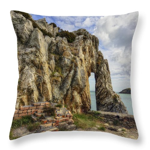 Arch Throw Pillow featuring the photograph Beauty And Decay by Ian Mitchell