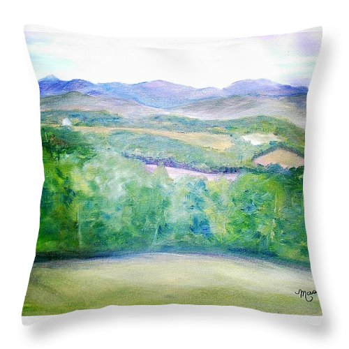 Benson Throw Pillow featuring the painting Benson Vermont by Sheila Mashaw