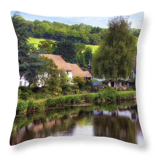 Bickleigh Throw Pillow featuring the photograph Bickleigh - Devon by Joana Kruse