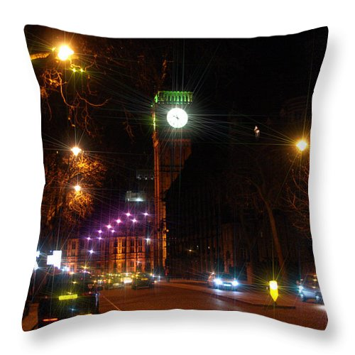 London Throw Pillow featuring the photograph Big Ben by Doc Braham
