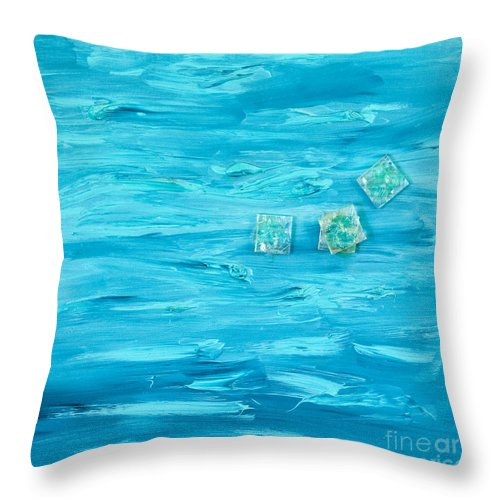 Intensive Blue Throw Pillow featuring the painting Blue by Alexandra Vaczi