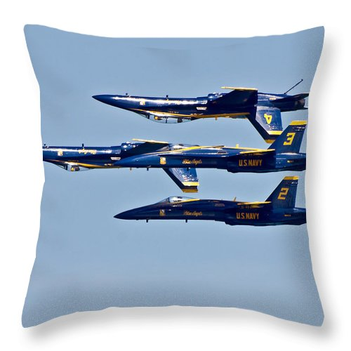 Throw Pillow featuring the photograph Blue Angels by Rick Selin