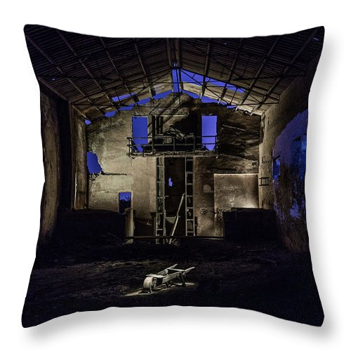 Throw Pillow featuring the photograph Blue by Eugenio Moya