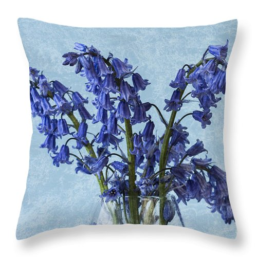 Bluebell Throw Pillow featuring the photograph Bluebells 1 by Steve Purnell