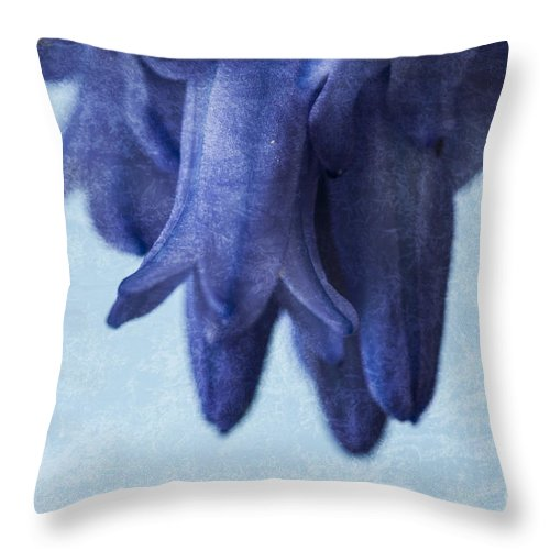 Bluebell Throw Pillow featuring the photograph Bluebells 4 by Steve Purnell