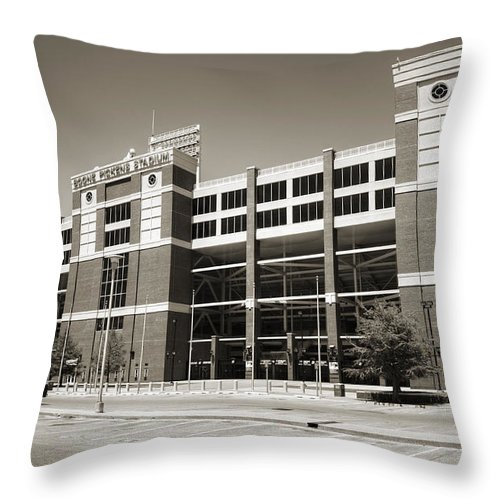 Oklahoma Throw Pillow featuring the photograph Boone Pickens Stadium by Ricky Barnard