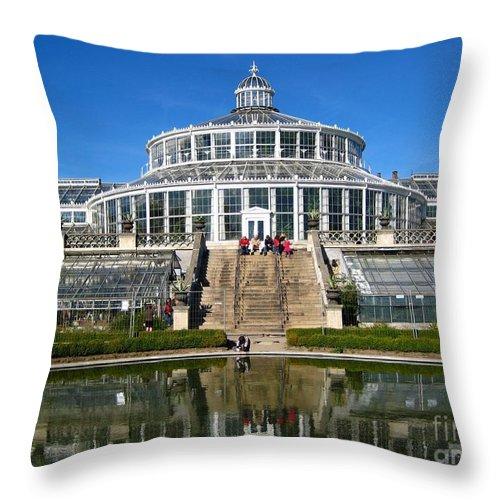 Botanical Garden Throw Pillow featuring the photograph Botanical Garden by Susanne Baumann
