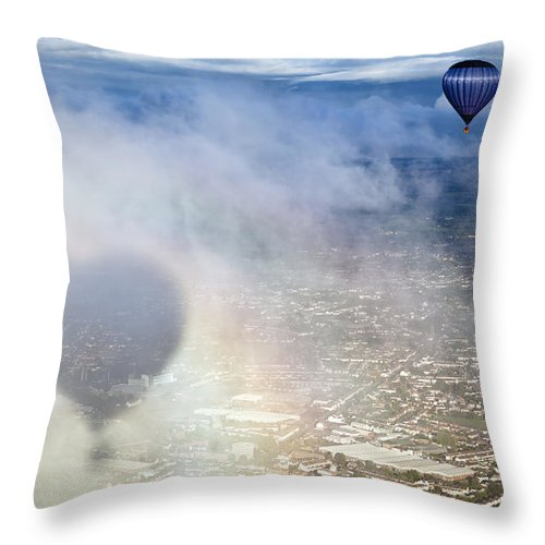 Journey Throw Pillow featuring the photograph Bristol Balloon Fiesta Bristol by Doug McKinlay