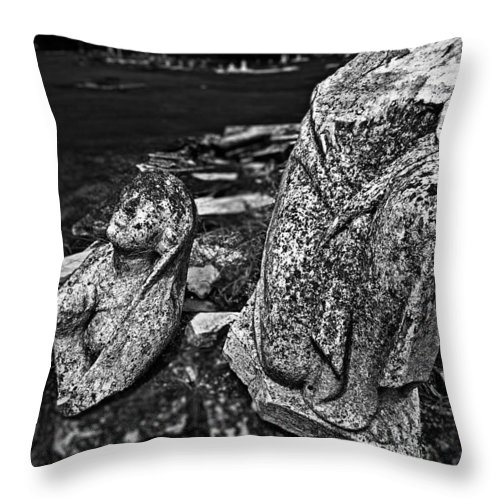 St. Raphael Throw Pillow featuring the photograph Broken Angel by Andy Crawford
