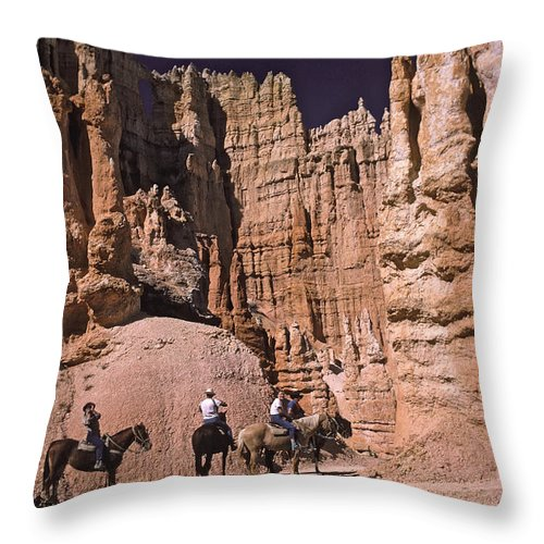Bryce Throw Pillow featuring the photograph Bryce Canyon by Howard Stapleton