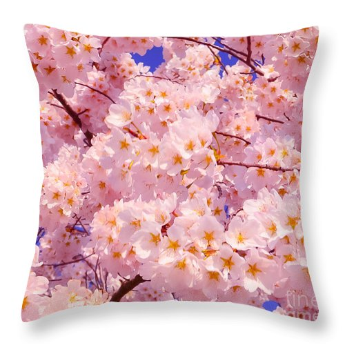 2012 Centennial Celebration Throw Pillow featuring the photograph Bursting With Blossoms by Jeff at JSJ Photography