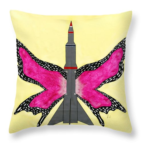 Butterfly Throw Pillow featuring the painting Butterfly by Sumit Mehndiratta