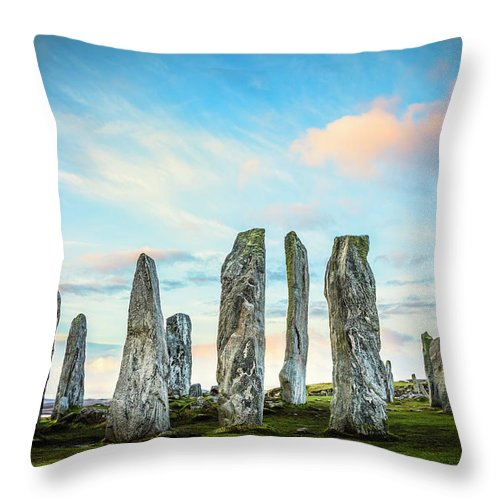 Prehistoric Era Throw Pillow featuring the photograph Callanish Standing Stones, Isle Of Lewis by Theasis