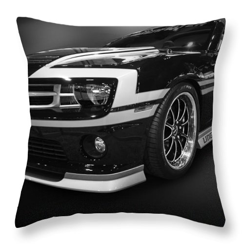 Automotive Throw Pillow featuring the photograph Camaro Stripes by Kevin Eatinger